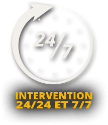 Intervention 24h/24 et 7j/7